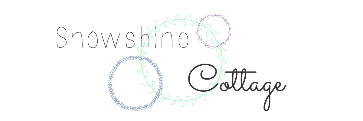 The Snowshine Cottage Logo with Three Overlapping Wreaths
